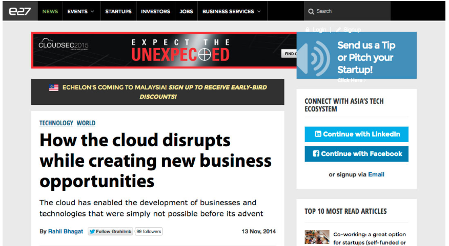 e27: How the cloud disrupts while creating new business opportunities
