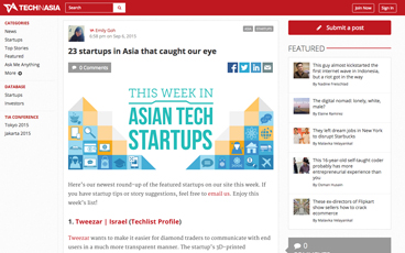 (English) Tech In Asia: 23 startups in Asia that caught our eye
