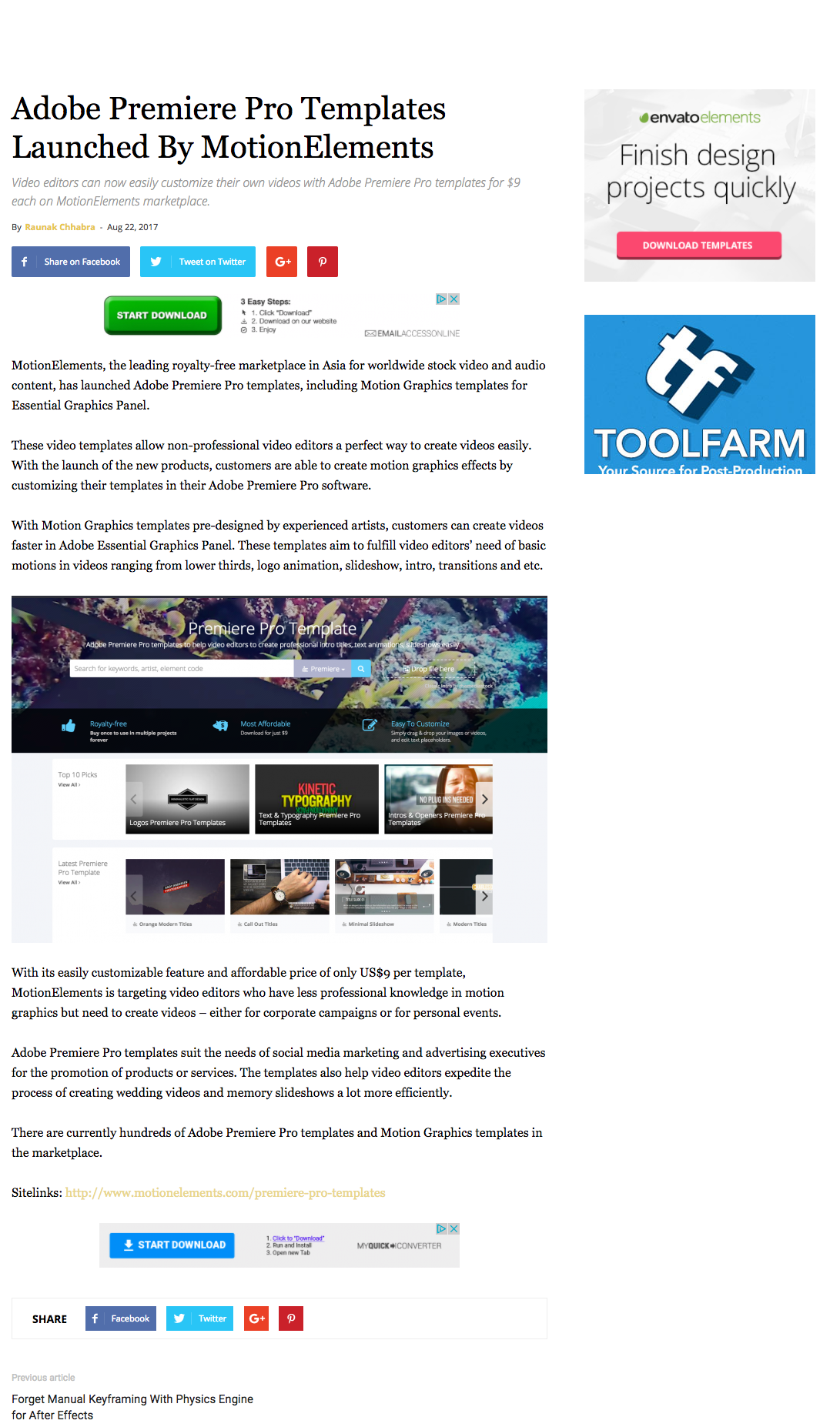 (English) Editing Corporation: Adobe Premiere Pro Templates Launched By MotionElements